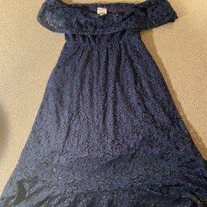 Nom women's maternity dress medium blue